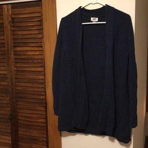 Old Navy blue chunky knit cardigan